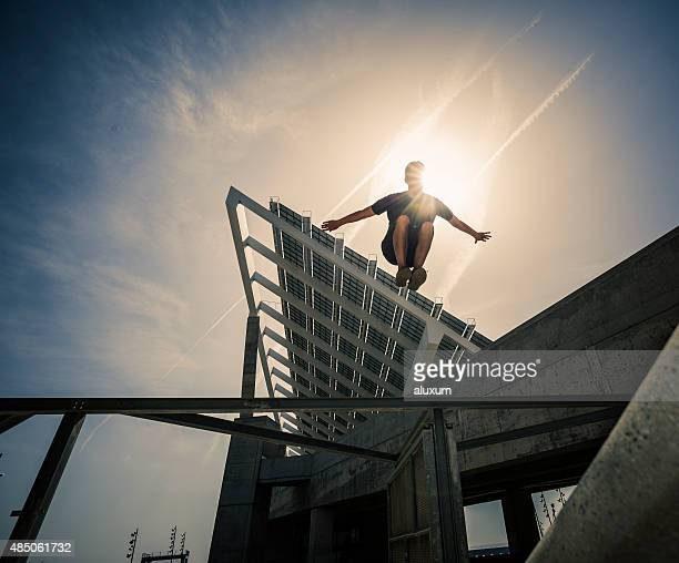 parkour jumping plotter - men's field event stock pictures, royalty-free photos & images