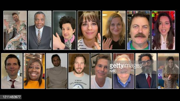 RECREATION Parks and Recreation Special Pictured in this screen grab Jon Glaser as Jeremy Jamm Jay Jackson as Perd Hapley Ben Schwartz as JeanRalphio...