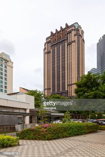 parkview plein in singapore - gwengoat stockfoto's en -beelden