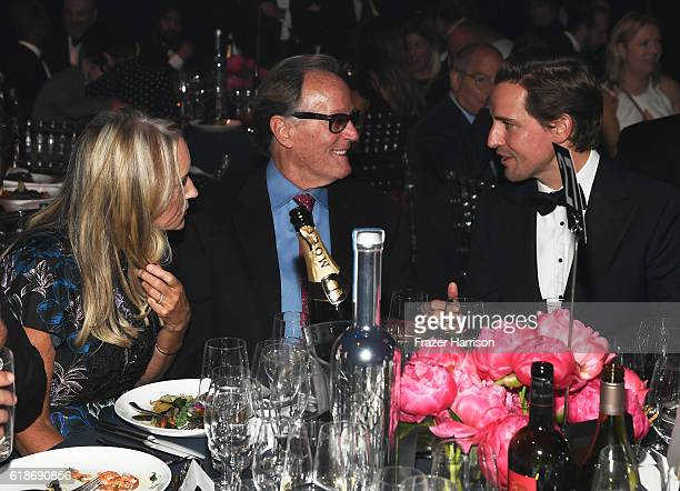 Parky Fonda actor Peter Fonda and auctioneer Alexander Gilkes attend amfAR's Inspiration Gala Los Angeles at Milk Studios on October 27 2016 in...