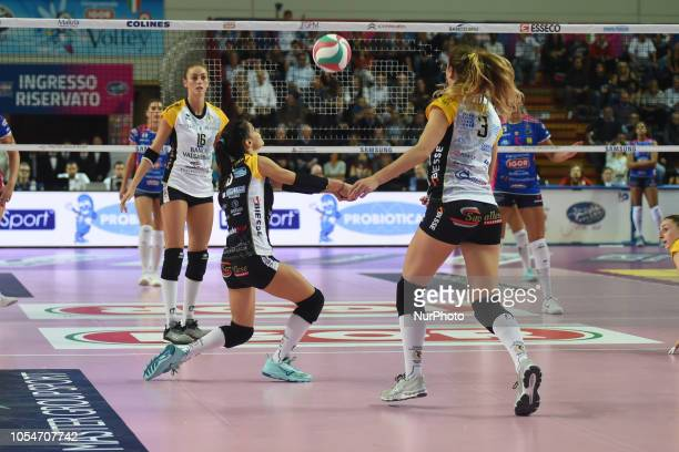 Parlangeli Francesca from team BV Millenium Brescia playing during volley match in Pala Igor Novara in Novara Italy
