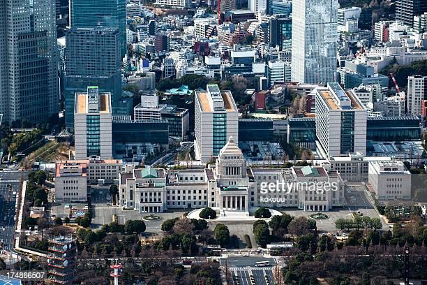Le Parlement et les gratte-ciel.