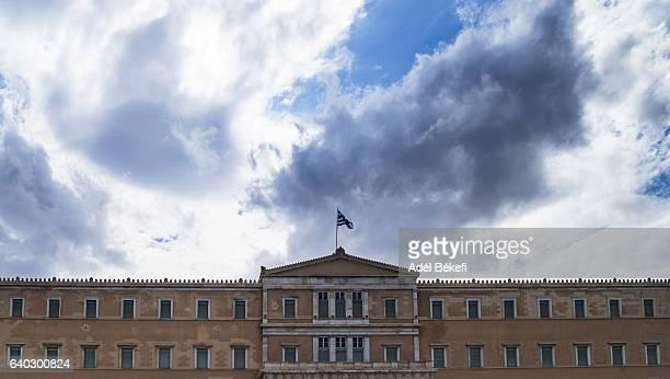 parliament building, athens, greece, europe - シンタグマ広場 ストックフォトと画像