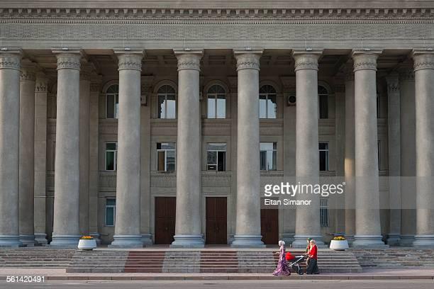 parliament building. bishkek. kyrgyzstan. - bishkek stock pictures, royalty-free photos & images