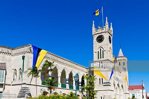 a parliament building in bridgetown - bridgetown barbados stock photos and pictures