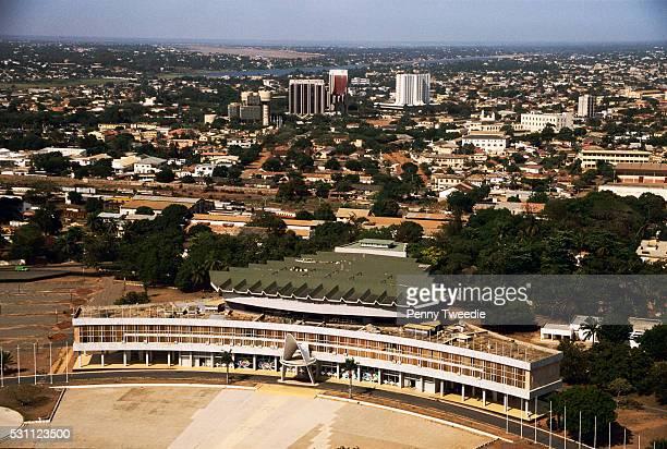 parliament building in lome, togo - togo fotografías e imágenes de stock