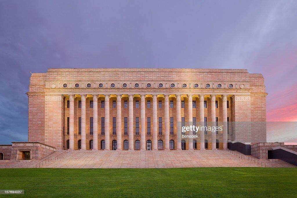 Parliament Building of Finland, Helsinki : Stock Photo