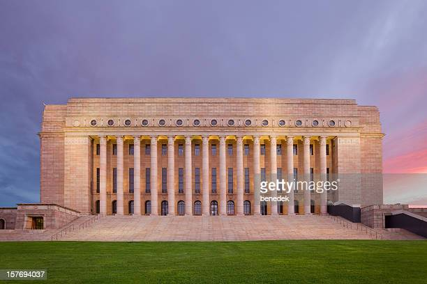 parliament building of finland, helsinki - finland stock pictures, royalty-free photos & images