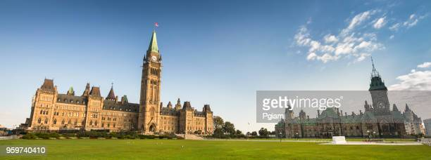 parliament building on parliament hill in ottawa - traditionally canadian stock pictures, royalty-free photos & images