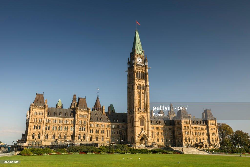 Parlamentsgebäude am Parliament Hill in Ottawa : Stock-Foto