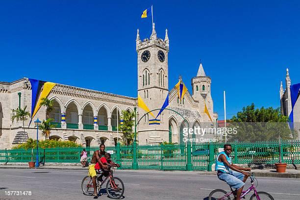 parliament buildings, bridgetown - bridgetown barbados stock pictures, royalty-free photos & images