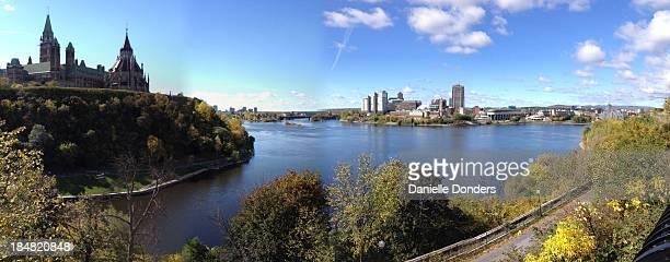 Parliament Hill and Ottawa River pano