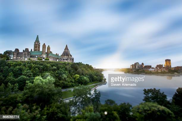 parliament hill in ottawa, ontario, canada - ottawa stock pictures, royalty-free photos & images