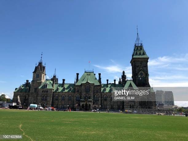 Parliament Hill is pictured on July 26 2018 in Ottawa Canada