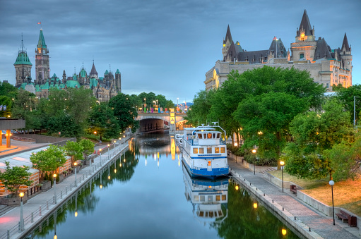Parliament Hill  on the Rideau Canal 182789593