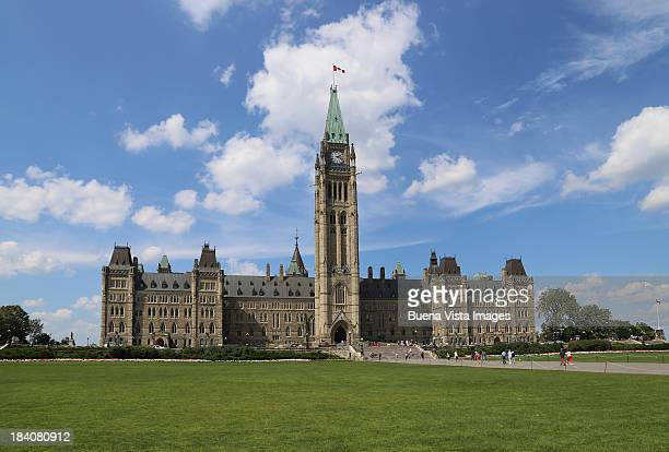 parliament hill, peace tower, ottawa, - democracy stock pictures, royalty-free photos & images