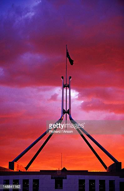 Parliament House at sunset.