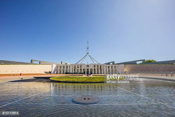 parliament house canberra, australia - australian politics stock pictures, royalty-free photos & images
