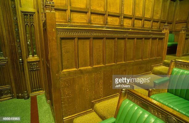 Parliament - House of Commons - main chamber interior - details. Image details of the main chamber interior of the HOC..