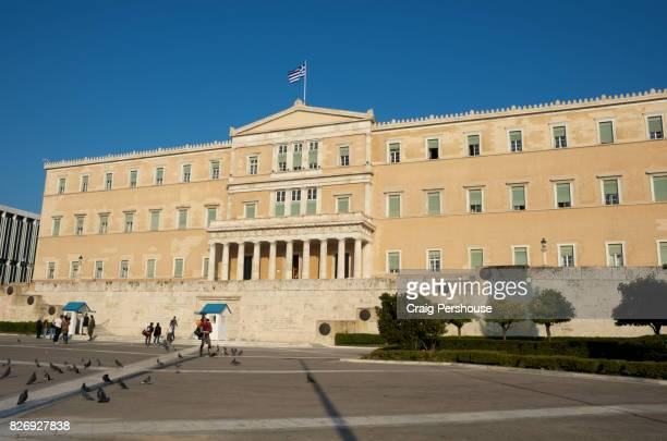 Parliament House, on Syntagma Square.