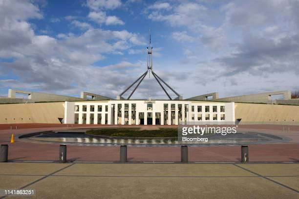 Parliament House stands in Canberra, Australia, on Wednesday, May 1, 2019. Australia looks set for a change of government on May 18, with the main...