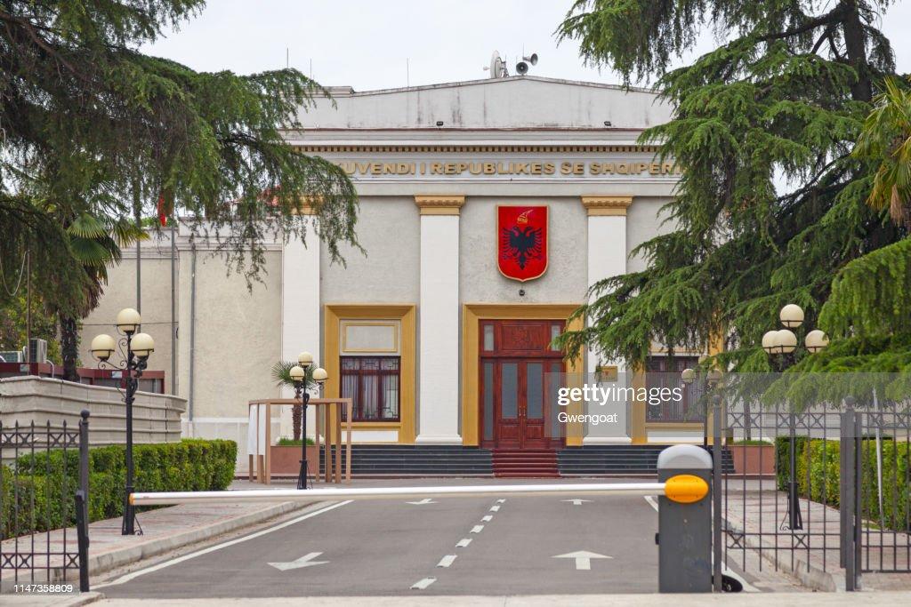 Parliament of Albania in Tirana : Stock Photo