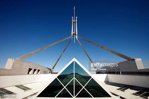 Parliament of Australia flagpole on Capital Hill.
