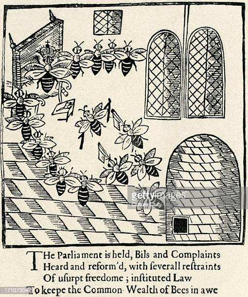 'Parliament of Bees' 'Parliament of Bees' 1641 by John Day English dramatist 1574 – 1640 Woodcut illustration from the book