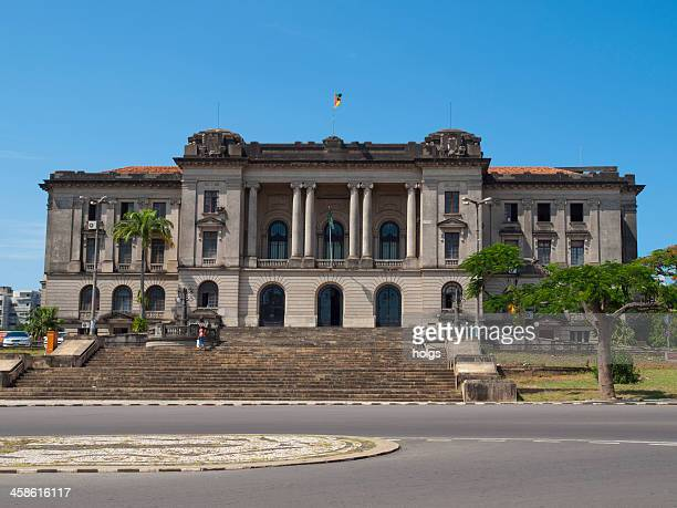 parliament of mozambique building in maputo - maputo city stock pictures, royalty-free photos & images