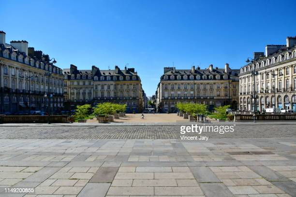 parliament place britanny rennes france - famous place photos et images de collection