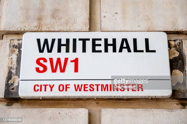 parliament street and whitehall street sign - rescue services occupation stock pictures, royalty-free photos & images