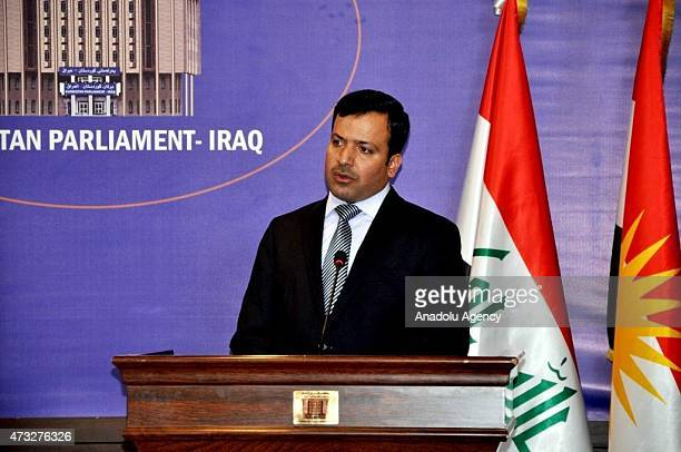KRG parliament Yossef Mohammed holds a press conference with speaker of Kurdistan Regional Government Prime Minister Nechirvan Barzani about oil...