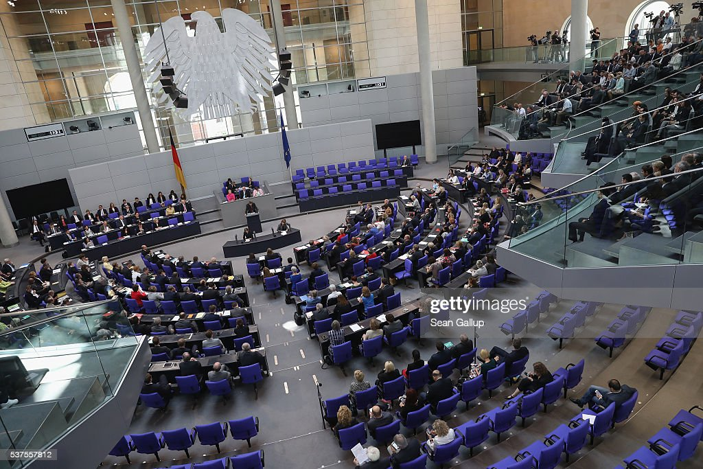 Parliamentarians at the Bundestag discuss a resolution on whether to recognize the 1915 Armenian genocide on June 2, 2016 in Berlin, Germany. The Bundestag is likely to approve a resolution recognizing the 1915 deaths of hundreds of thousands of Armenians and other ethnic groups at the hands of Ottoman Turkish forces. The Turkish government has opposed any labeling of the deaths as genocide and an approval will likely irritate German-Turkish relations.