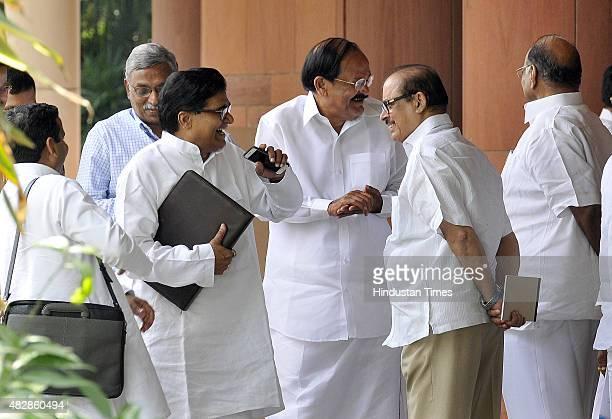 Parliamentary Affairs Minister Venkaiah Naidu Leader of SP in the Rajya Sabha Ram Gopal Yadav Nationalist Congress Party Chief Sharad Pawar and...