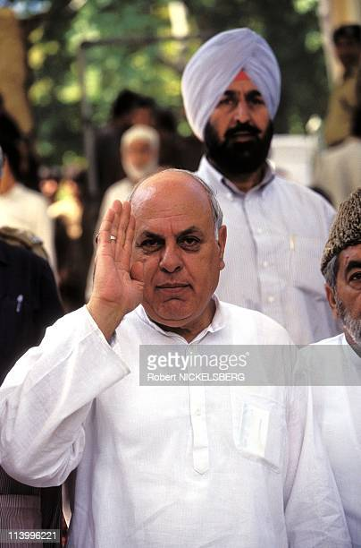 Parliamentary and State Elections in Kashmir In India In September, 1996-Farooq Abdullah, former Kashmir Chief Minister.