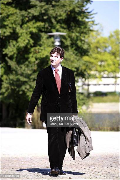 Parliamentary Days Of The Socialist Party In Nantes On August 9Th 2007 In Nantes France Here Arnaud Montebourg