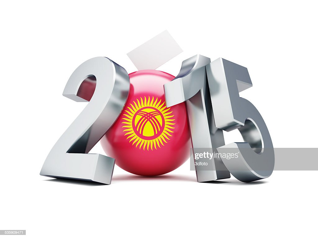 Parliamentary elections in Kyrgyzstan 2015 : Stock Photo