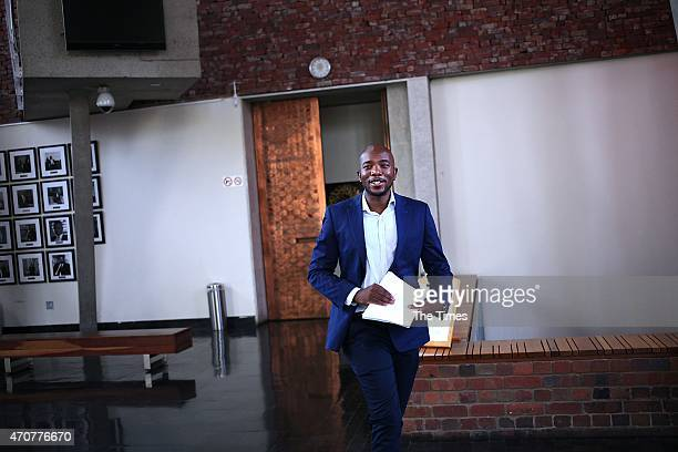 DA Parliamentary Leader Mmusi Maimane after an appearance at the Constitutional Court on January 19 2015 in Johannesburg South Africa Yesterday the...