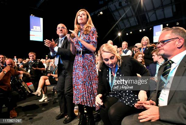 Parliamentary UnderSecretary of State for Business and Industry Nadhim Zahawi and Carrie Symonds the girlfriend of Prime Minister Boris Johnson...