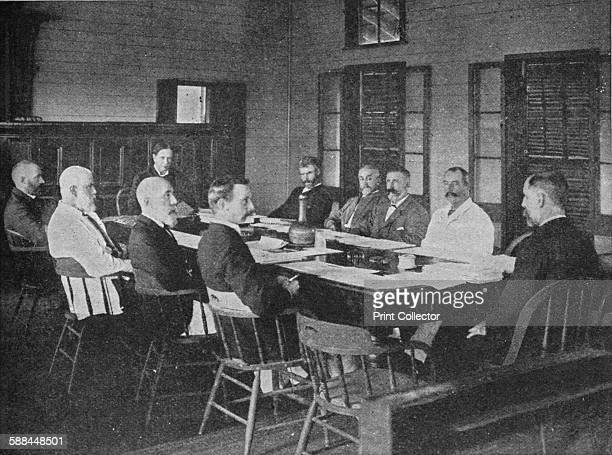 Parliaments of Britain's overseas dominions the Legislative Council of Fiji in session 1909 From Harmsworth History of the World Volume 7 by Arthur...