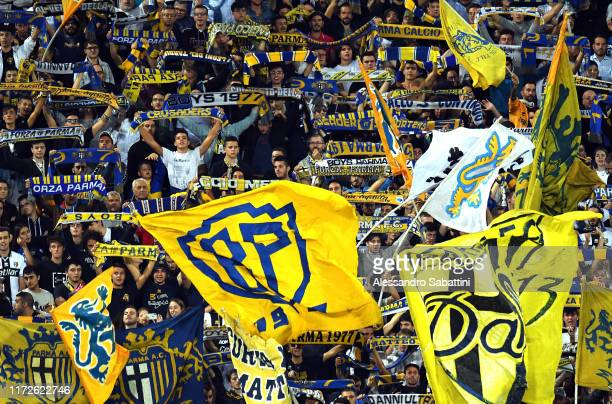 Parma Calcio fans during the Serie A match between Parma Calcio and Torino FC at Stadio Ennio Tardini on September 30 2019 in Parma Italy
