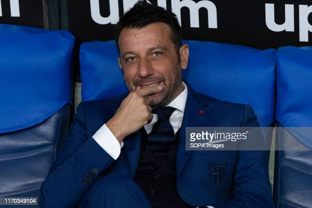 Parma coach Roberto D'Anversa seen during the Serie A match between Lazio and Parma at Olimpico Stadium