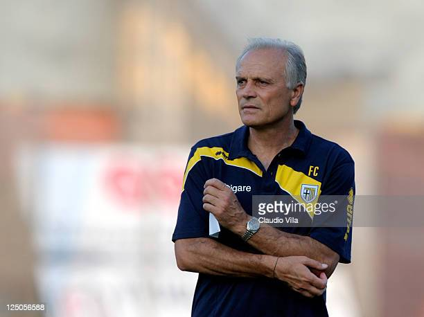 Parma FC head coach Franco Colomba during the friendly match between Mantova and Parma FC at Danilo Martelli Stadium on September 15 2011 in Mantova...