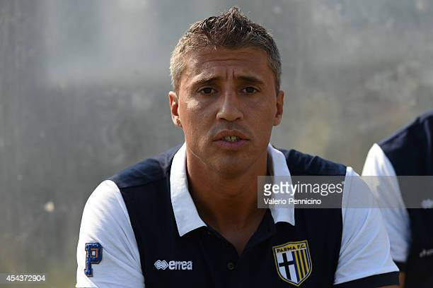 Parma FC juvenile head coach Hernan Crespo looks on prior to the juvenile match between Parma FC juvenile and Virtus Entella juvenile on August 30...