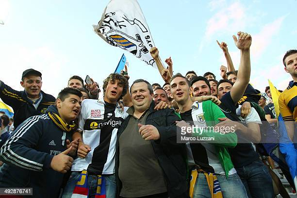 Parma FC president Tommaso Ghirardi meets the fans prior the Serie A match between Parma FC and AS Livorno Calcio at Stadio Ennio Tardini on May 18,...