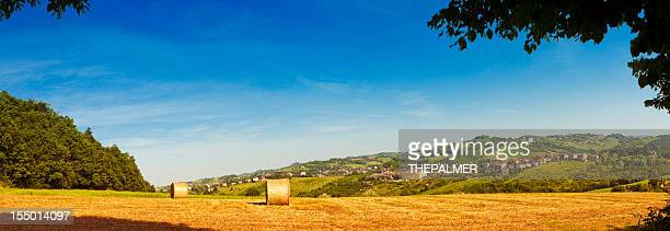 parma fields panorama - emilia romagna stock photos and pictures