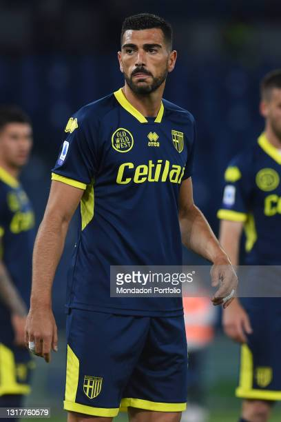 Parma footballer Graziano Pelle during the Serie A football match between Lazio and Parma at Olympic Stadium. Rome , May 12th, 2021