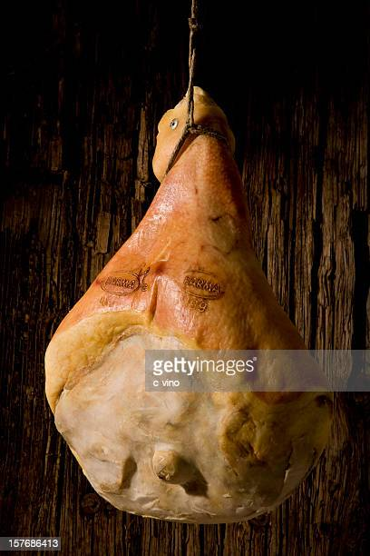 parma ham hanging - prosciutto stock photos and pictures
