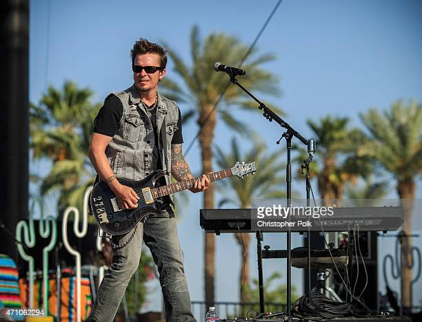 Parmalee performs onstage during day one of 2015 Stagecoach California's Country Music Festival at The Empire Polo Club on April 24 2015 in Indio...