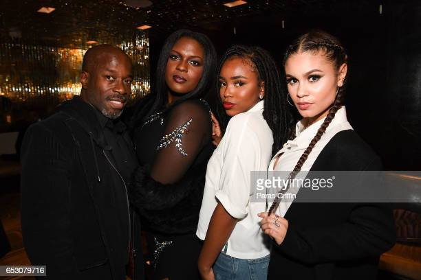 Parnell Damone Marcano Deborah Joy Winans Lovie Simone and Desiree Ross attend Greenleaf Season 2 Premiere Party at W Atlanta Midtown on March 13...